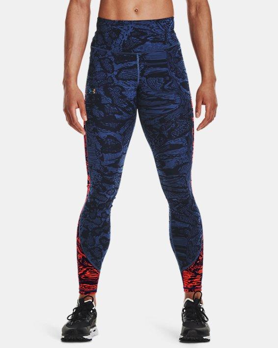 Women's UA RUSH™ HeatGear® No-Slip Waistband Printed Full-Length Leggings, Blue, pdpMainDesktop image number 2