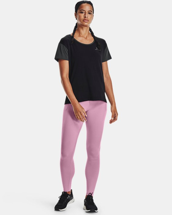 Women's UA RUSH™ Energy Colorblock Short Sleeve, Black, pdpMainDesktop image number 0
