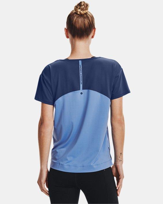 Women's UA RUSH™ Energy Colorblock Short Sleeve, Blue, pdpMainDesktop image number 2