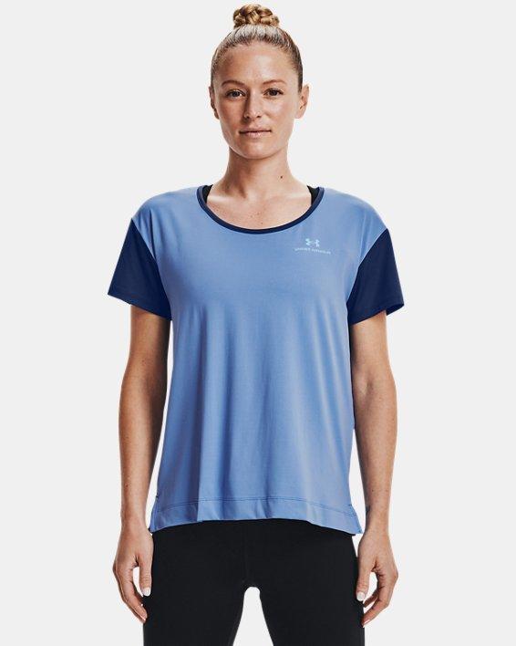 Women's UA RUSH™ Energy Colorblock Short Sleeve, Blue, pdpMainDesktop image number 1
