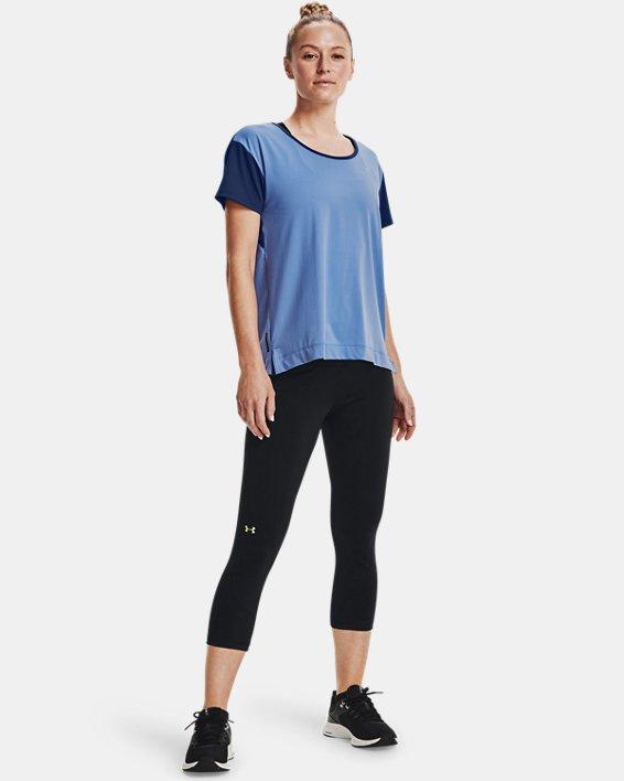 Women's UA RUSH™ Energy Colorblock Short Sleeve, Blue, pdpMainDesktop image number 0