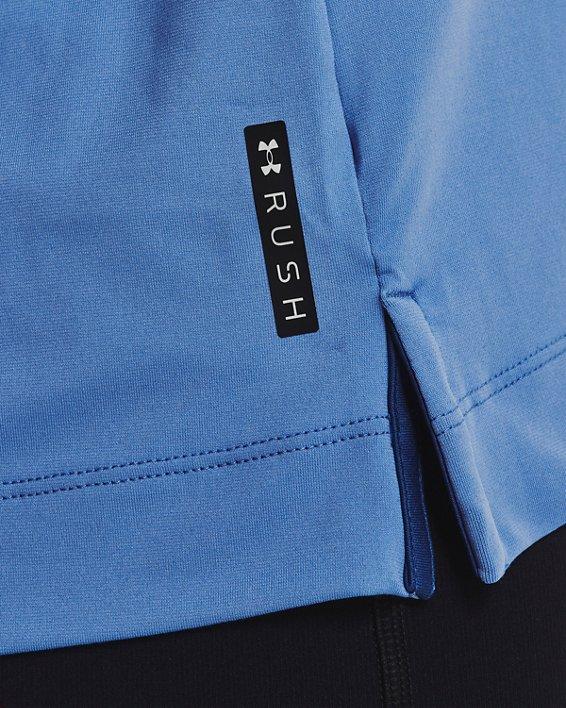 Women's UA RUSH™ Energy Colorblock Short Sleeve, Blue, pdpMainDesktop image number 3