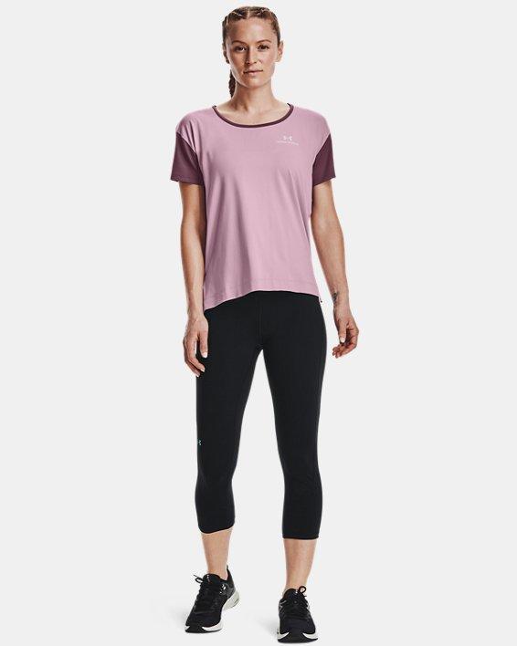 Women's UA RUSH™ Energy Colorblock Short Sleeve, Pink, pdpMainDesktop image number 2