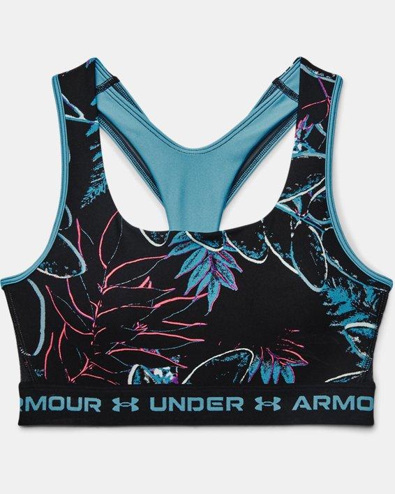 Sujetador deportivo de impacto medio Armour® Crossback para mujer, Blue, pdpMainDesktop image number 2
