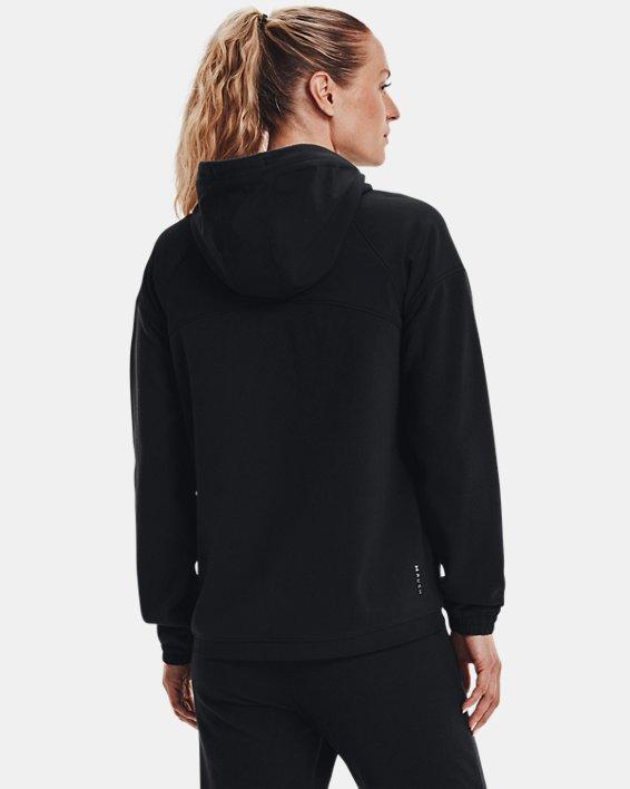 Women's UA RUSH™ Fleece Full-Zip Hoodie, Black, pdpMainDesktop image number 1