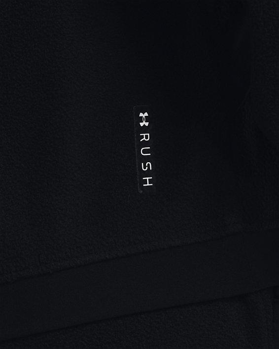 Women's UA RUSH™ Fleece Full-Zip Hoodie, Black, pdpMainDesktop image number 4