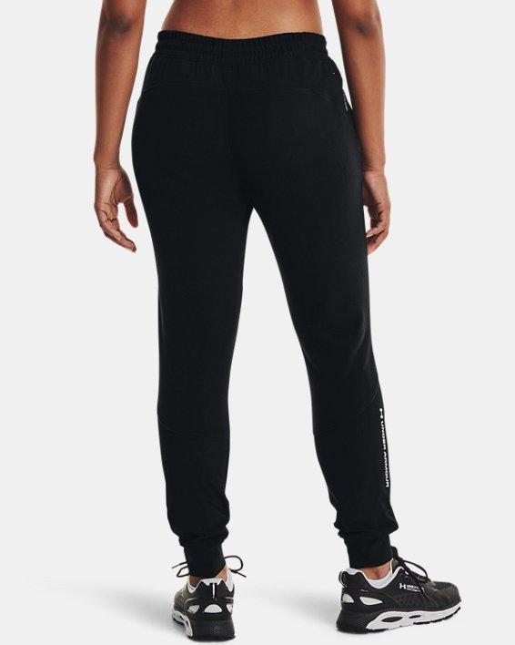 Women's UA RUSH™ Fleece Pants, Black, pdpMainDesktop image number 1