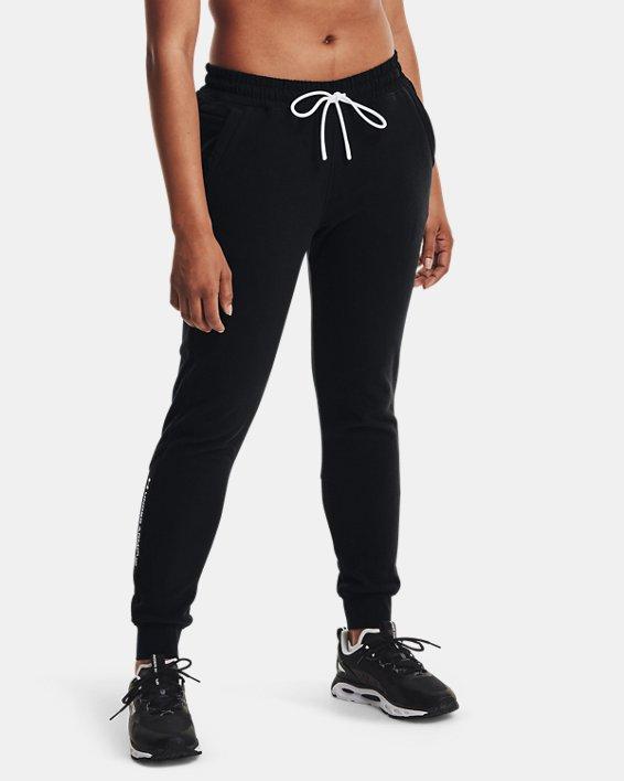 Women's UA RUSH™ Fleece Pants, Black, pdpMainDesktop image number 0