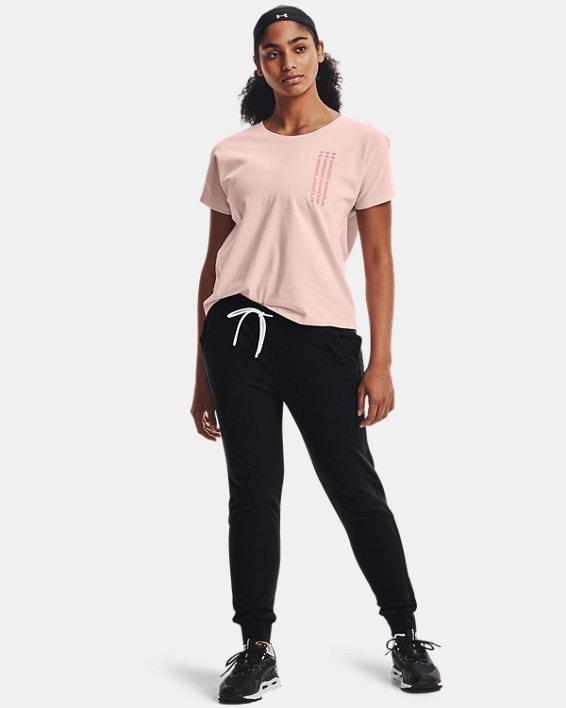 Women's UA RUSH™ Fleece Pants, Black, pdpMainDesktop image number 2
