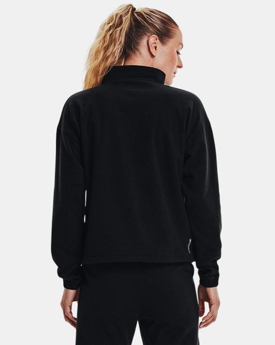 Women's UA RUSH™ Fleece ½ Zip Hoodie, Black, pdpMainDesktop image number 1