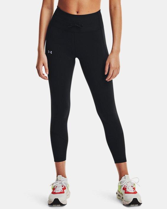 Women's UA Meridian Rib Waistband Ankle Leggings, Black, pdpMainDesktop image number 1