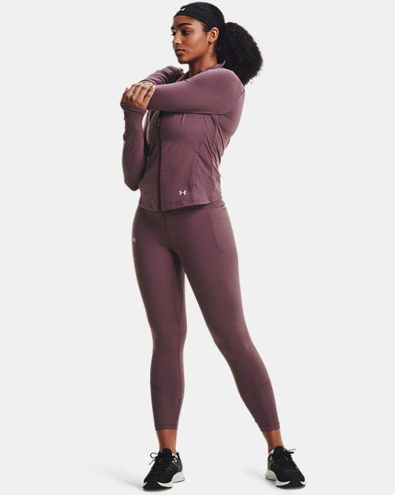 Women's UA Meridian Rib Waistband Ankle Leggings, Purple, pdpMainDesktop image number 0