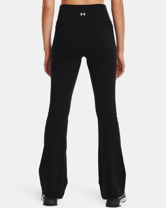 Women's UA Meridian Flare Pants, Black, pdpMainDesktop image number 2