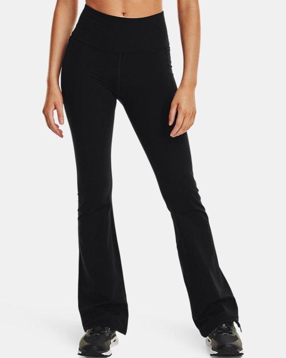 Women's UA Meridian Flare Pants, Black, pdpMainDesktop image number 1