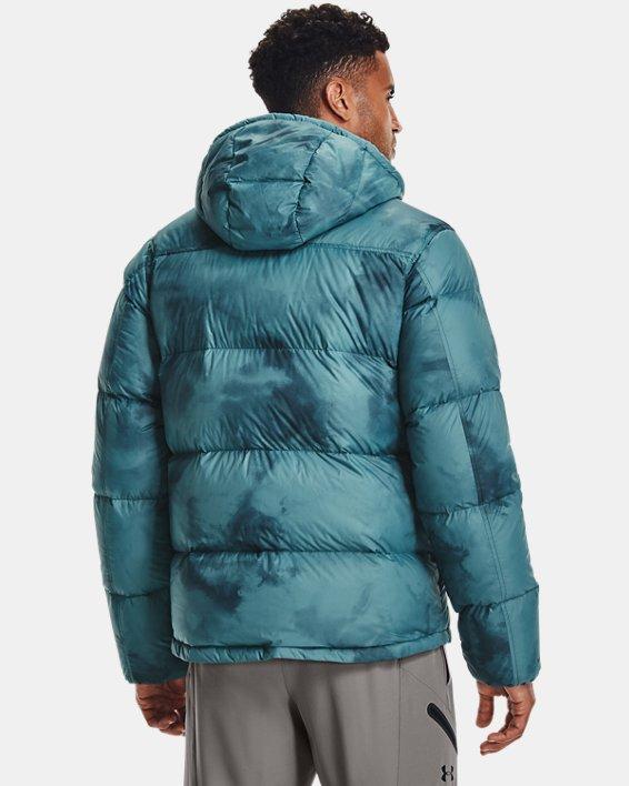 Men's ColdGear® Infrared Down Printed Jacket, Blue, pdpMainDesktop image number 1