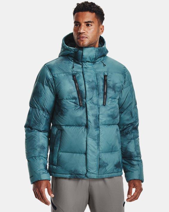 Men's ColdGear® Infrared Down Printed Jacket, Blue, pdpMainDesktop image number 0