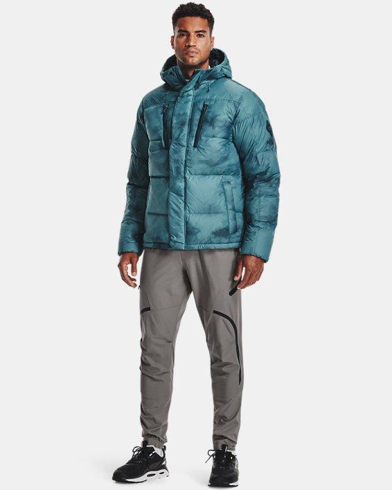 Men's ColdGear® Infrared Down Printed Jacket, Blue, pdpMainDesktop image number 2