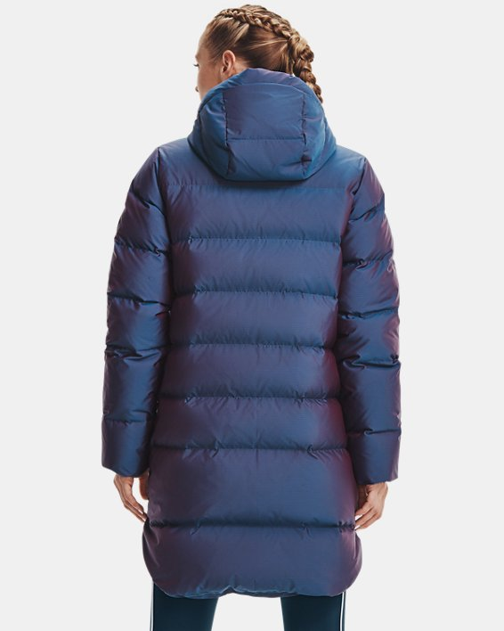 Women's ColdGear® Infrared Down Iridescent Parka, Blue, pdpMainDesktop image number 1