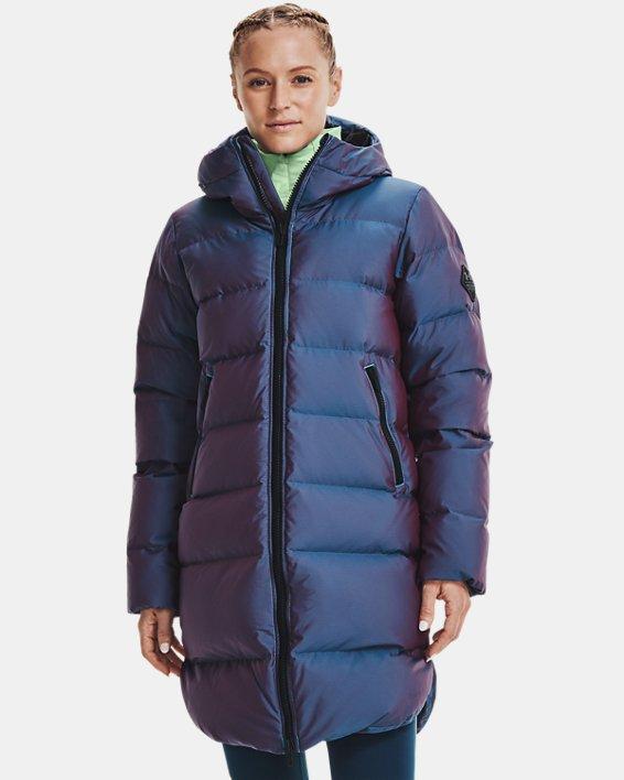 Women's ColdGear® Infrared Down Iridescent Parka, Blue, pdpMainDesktop image number 0