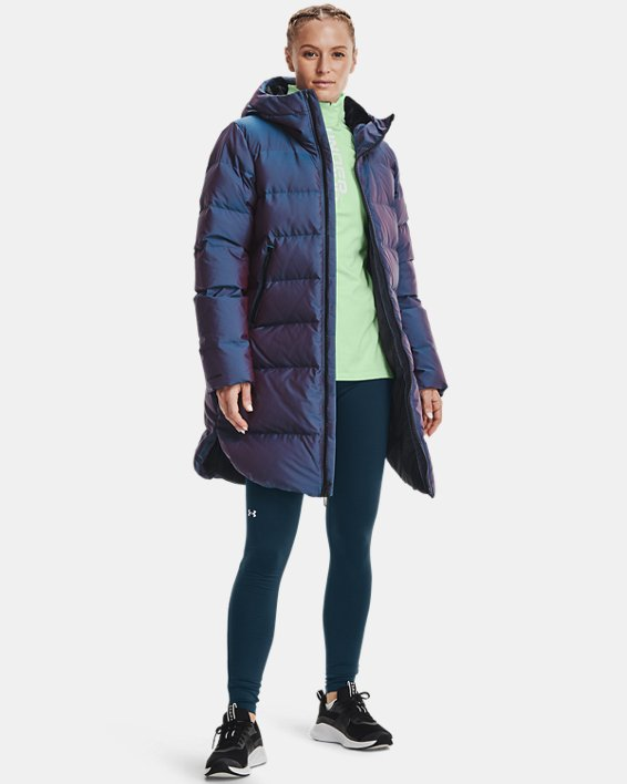 Women's ColdGear® Infrared Down Iridescent Parka, Blue, pdpMainDesktop image number 2