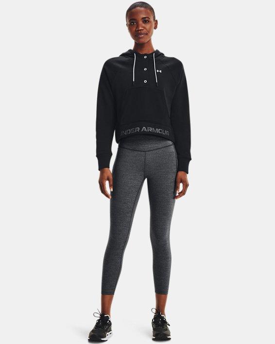 Women's UA Rival Fleece Mesh Hoodie, Black, pdpMainDesktop image number 0