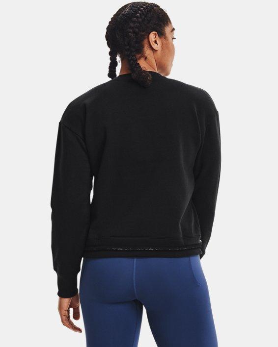 Women's UA Rival Fleece Mesh Crew, Black, pdpMainDesktop image number 2