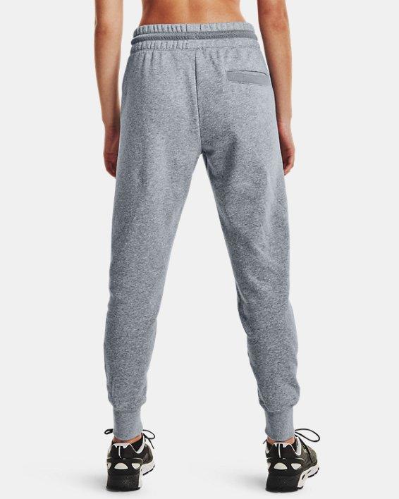Women's UA Rival Fleece Mesh Pants, Gray, pdpMainDesktop image number 2