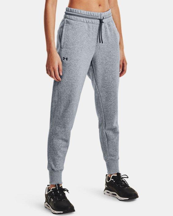 Women's UA Rival Fleece Mesh Pants, Gray, pdpMainDesktop image number 1