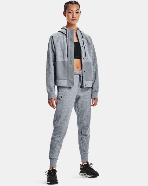 Women's UA Rival Fleece Mesh Pants, Gray, pdpMainDesktop image number 0
