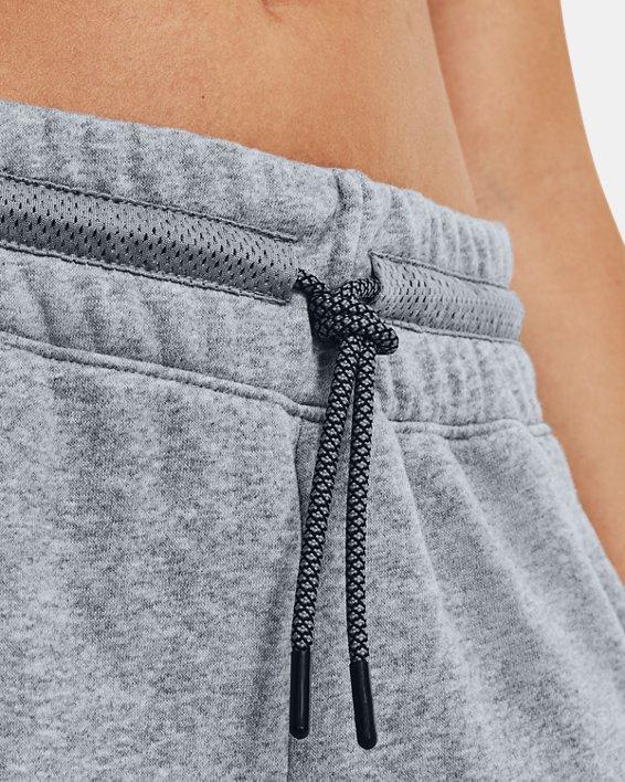 Women's UA Rival Fleece Mesh Pants, Gray, pdpMainDesktop image number 3