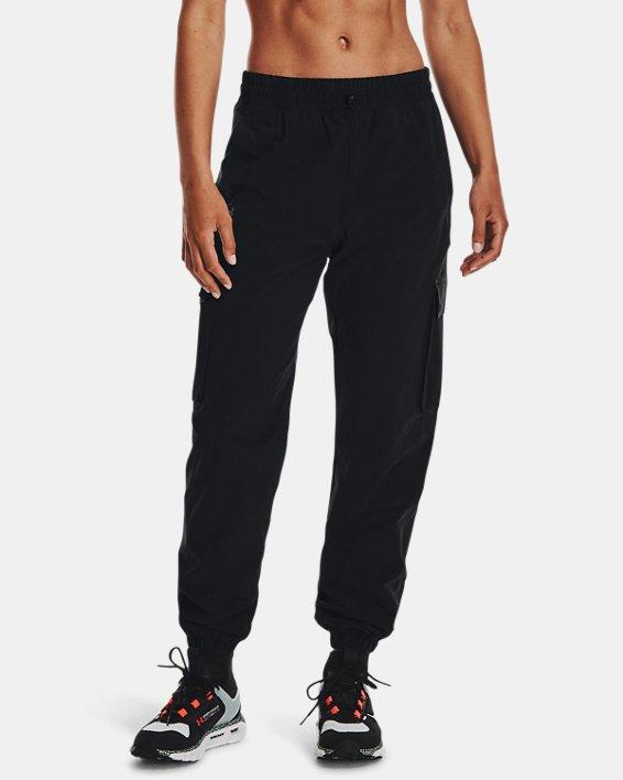 Joggers UA RUSH™ Woven para mujer, Black, pdpMainDesktop image number 0