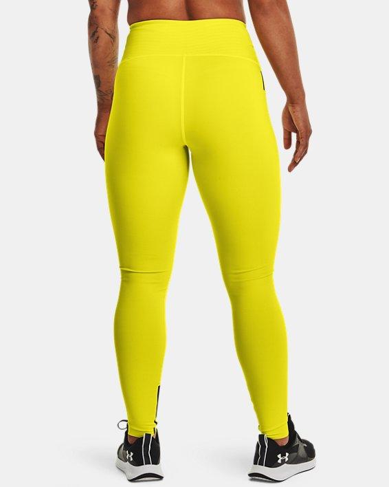 Women's UA RUSH™ HeatGear® No-Slip Waistband Custom Length Leggings, Yellow, pdpMainDesktop image number 1