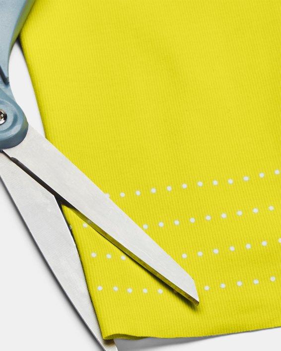 Women's UA RUSH™ HeatGear® No-Slip Waistband Custom Length Leggings, Yellow, pdpMainDesktop image number 5
