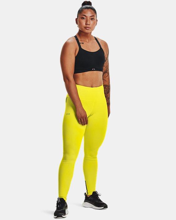 Women's UA RUSH™ HeatGear® No-Slip Waistband Custom Length Leggings, Yellow, pdpMainDesktop image number 2