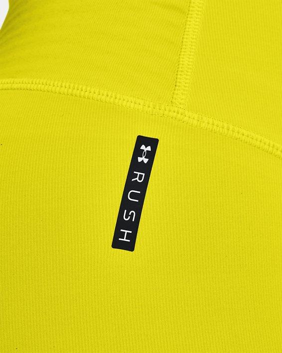 Women's UA RUSH™ HeatGear® No-Slip Waistband Custom Length Leggings, Yellow, pdpMainDesktop image number 3