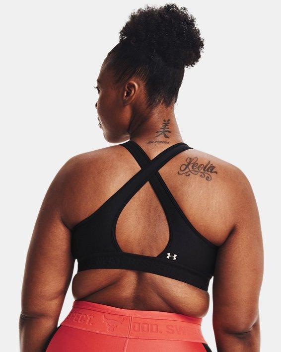 Women's Project Rock Sports Bra, Black, pdpMainDesktop image number 6