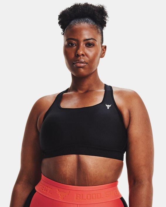 Women's Project Rock Sports Bra, Black, pdpMainDesktop image number 3