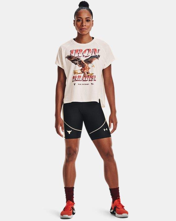 Women's Project Rock HeatGear® Bike Shorts, Black, pdpMainDesktop image number 2