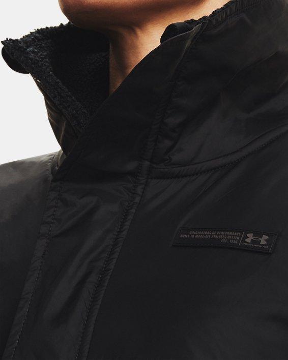 Women's UA Mission Full-Zip Jacket, Black, pdpMainDesktop image number 3