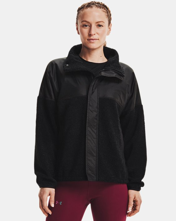 Women's UA Mission Full-Zip Jacket, Black, pdpMainDesktop image number 0