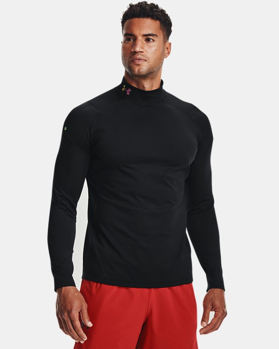 Men's UA RUSH™ ColdGear® Mock, Black, pdpMainDesktop image number 0