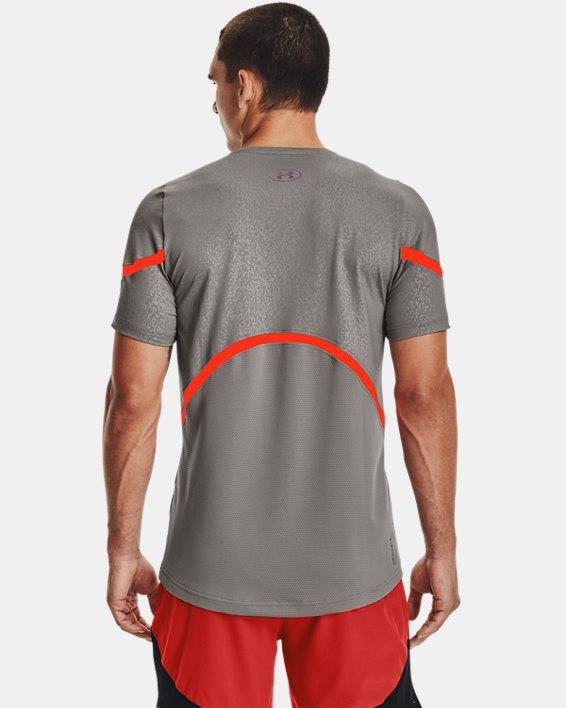 Men's UA RUSH™ HeatGear® 2.0 Emboss Short Sleeve, Gray, pdpMainDesktop image number 2