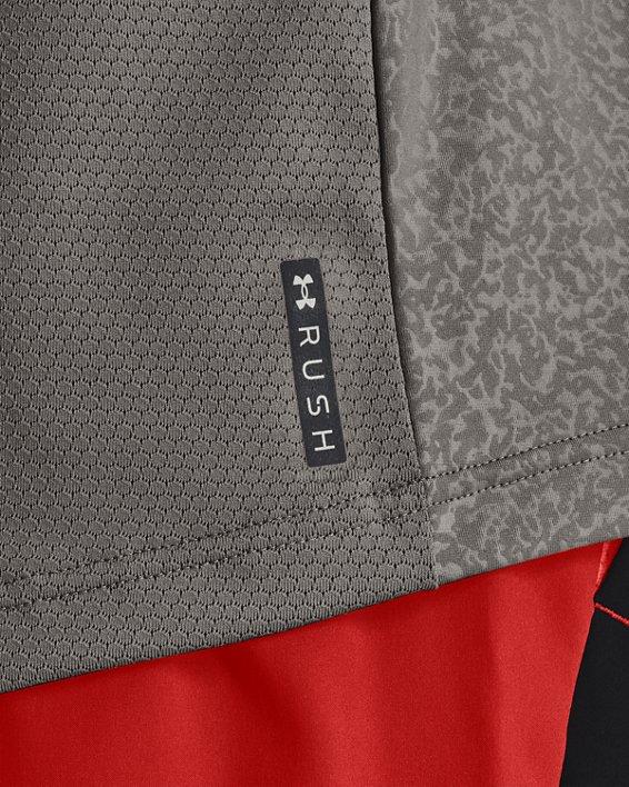 Men's UA RUSH™ HeatGear® 2.0 Emboss Short Sleeve, Gray, pdpMainDesktop image number 3