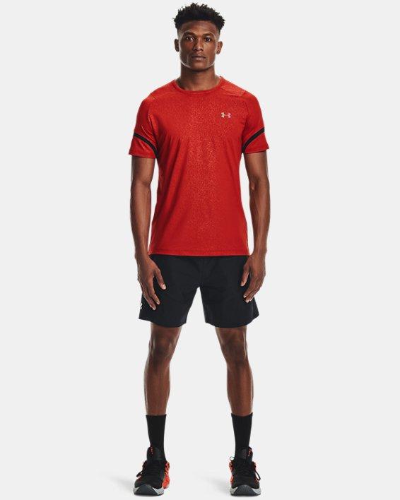 Haut à manches courtes UARUSH™ HeatGear®2.0 Emboss pour homme, Orange, pdpMainDesktop image number 0