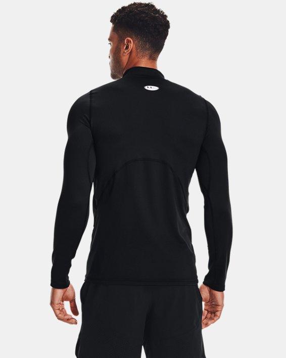 Men's ColdGear® Fitted Mock, Black, pdpMainDesktop image number 2