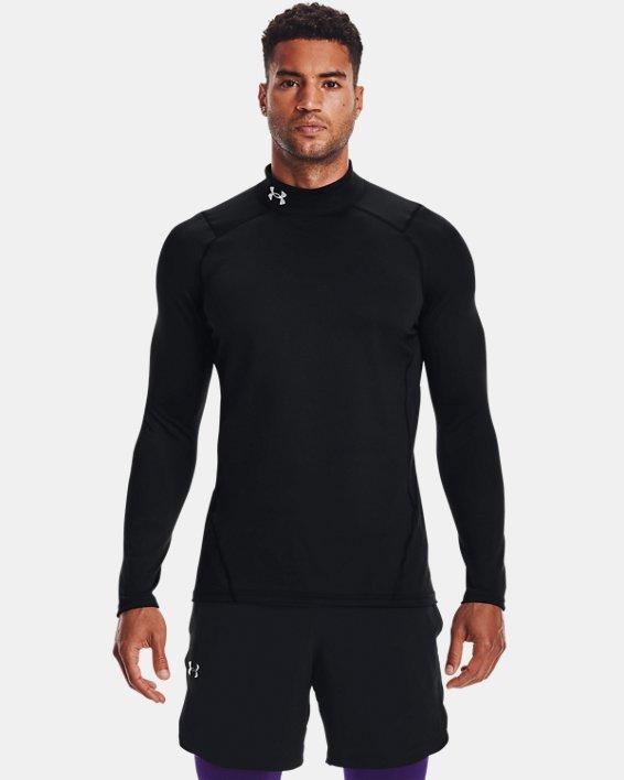 Men's ColdGear® Fitted Mock, Black, pdpMainDesktop image number 1