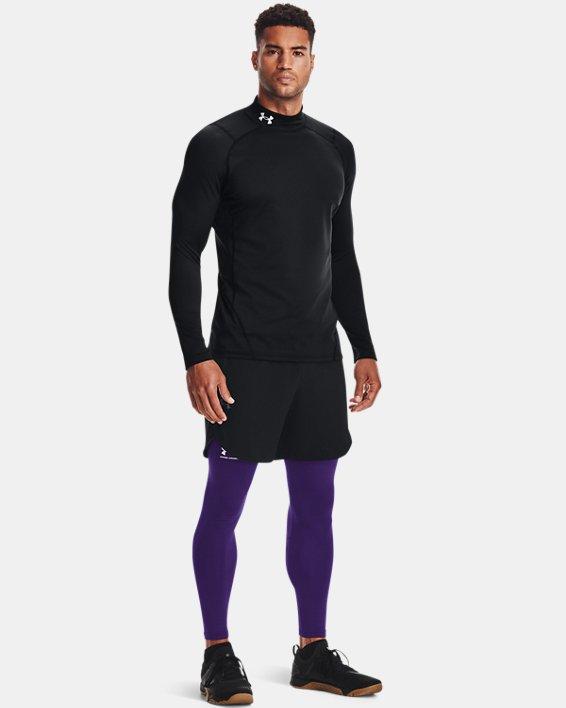 Men's ColdGear® Fitted Mock, Black, pdpMainDesktop image number 3