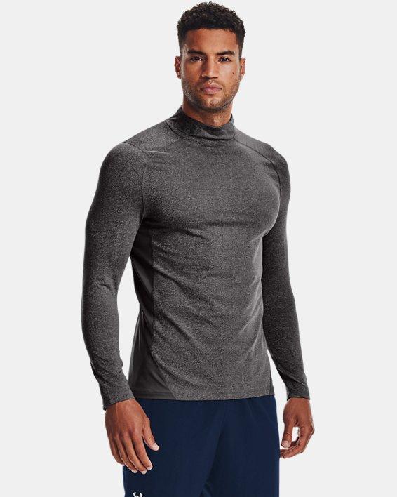 Men's ColdGear® Armour Fitted Mock, Gray, pdpMainDesktop image number 0