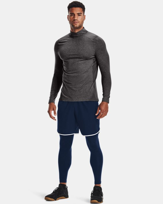Men's ColdGear® Armour Fitted Mock, Gray, pdpMainDesktop image number 2