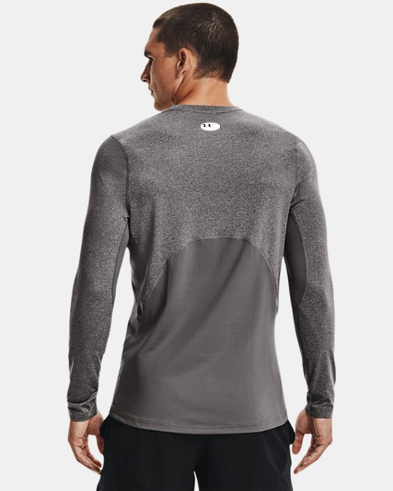 Men's ColdGear® Armour Fitted Crew, Gray, pdpMainDesktop image number 1